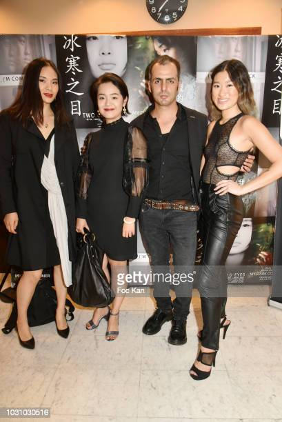 Chinese actresses Cecelia Yuan Zhenzhen Zoe Jue Zheng director Mustafa Ozgun and chinese actress Anne Hui Zhan attend the Mustafa Ozgun 3 Short...