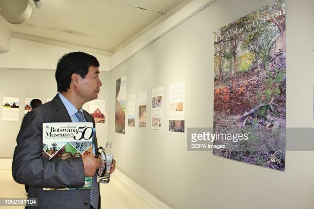 Chinese Ambassador to Botswana Zhao Yanbo participating in the museum tour at the 50th Anniversary of the existence of National Museum and Monuments...