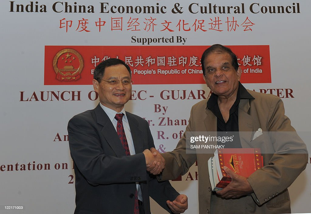 Chinese Ambassador to India Zhang Yan (L : News Photo