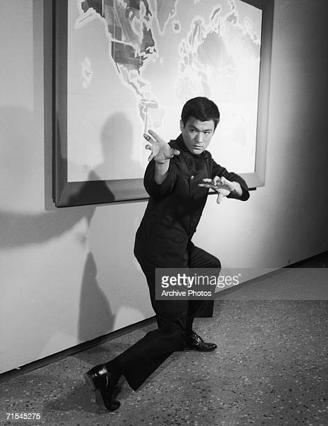 Chinese American actor Bruce Lee in the television series 'The Green Hornet' mid 1960s