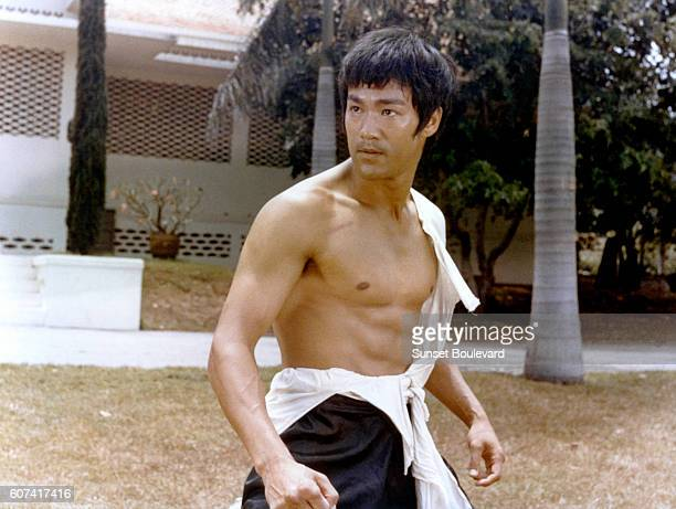 Chinese American actor Bruce Lee on the set of Tang Shan Da Xiong written and directed by Wei Lo