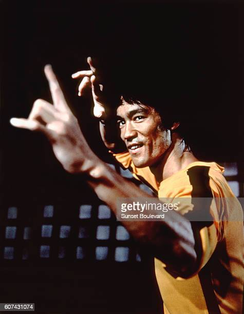 Chinese American martial artist and actor Bruce Lee on the set of Game of Death written and directed by Robert Clouse