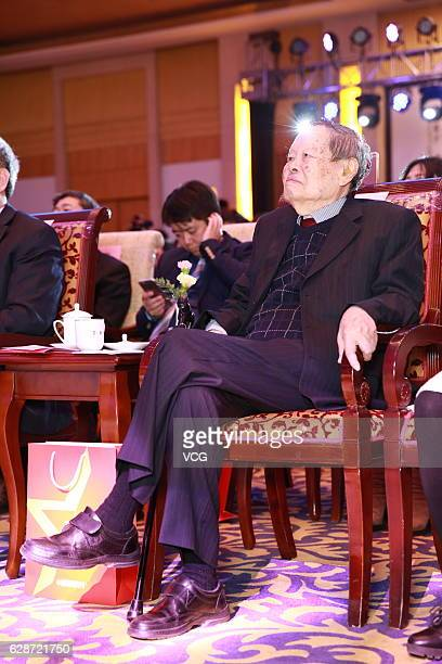 Chinese American Nobel laureate of physics Yang Zhenning attends a ceremony held by China News Week on December 8 2016 in Beijing China Yang Zhenning...