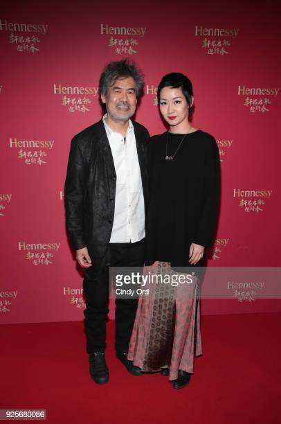 Chinese American playwright David Henry Hwang and Bettina Chin of Opening Ceremony attend Hennessy XO's Lunar New Year celebration at DaDong on...