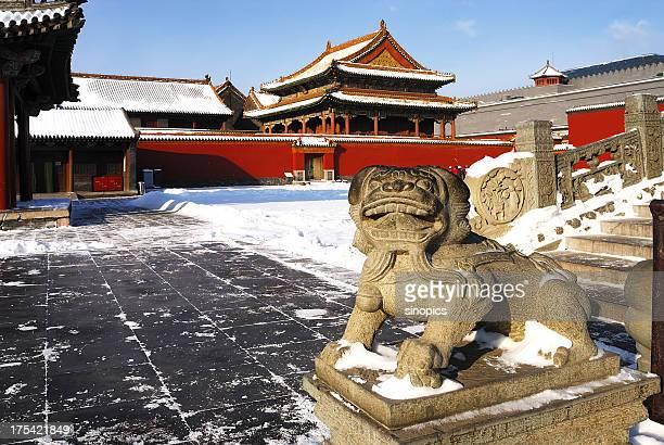 中国の古代の宮殿 - 満州地方 ストックフォトと画像
