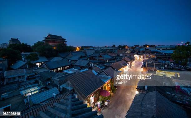 chinese oude stad - shangri la stockfoto's en -beelden