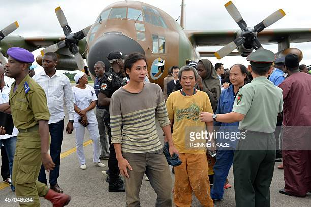 Chinese and Cameroonian hostages who were released to the Cameroonian authorities after being kidnapped in raids blamed on the Nigerian Islamist...