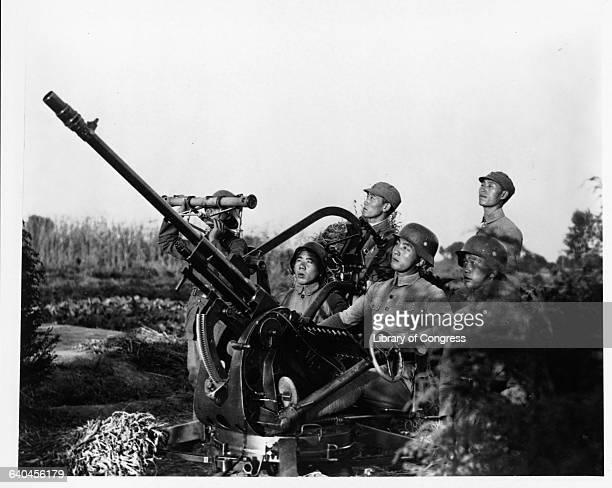 Chinese AntiAircraft Gun Crew