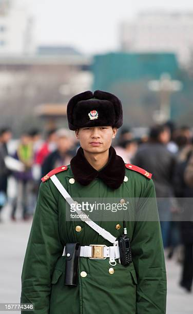 Chinese army on Tiananmen Square