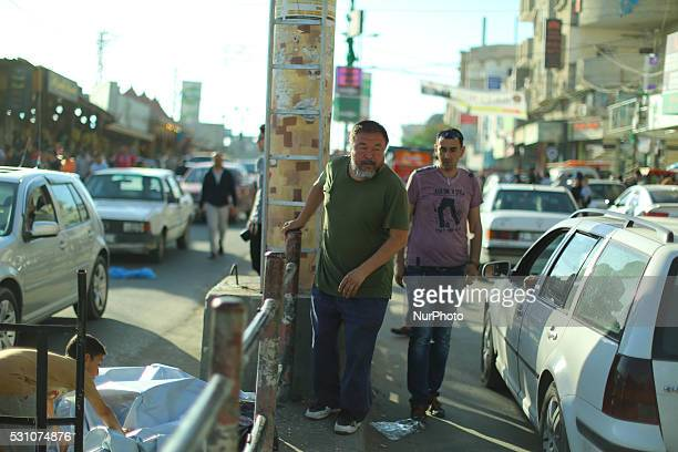 Chinese artist and activist Ai Weiwei in Gaza on May 12 2016