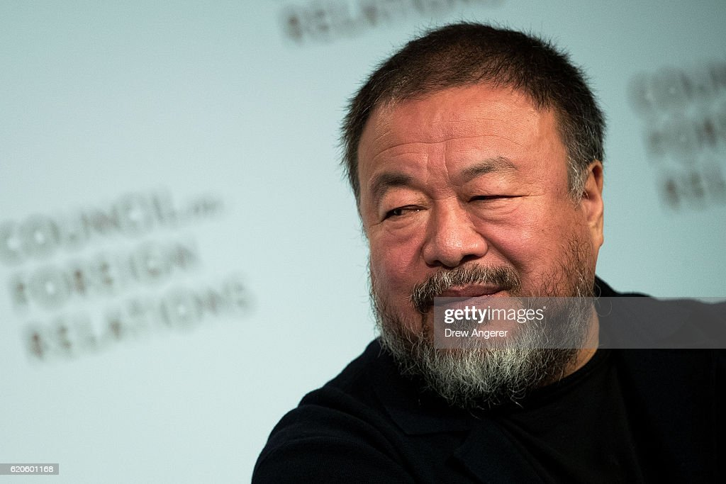 Chinese Artist And Activist Ai Weiwei Speaks At The Council On Foreign Relations : News Photo