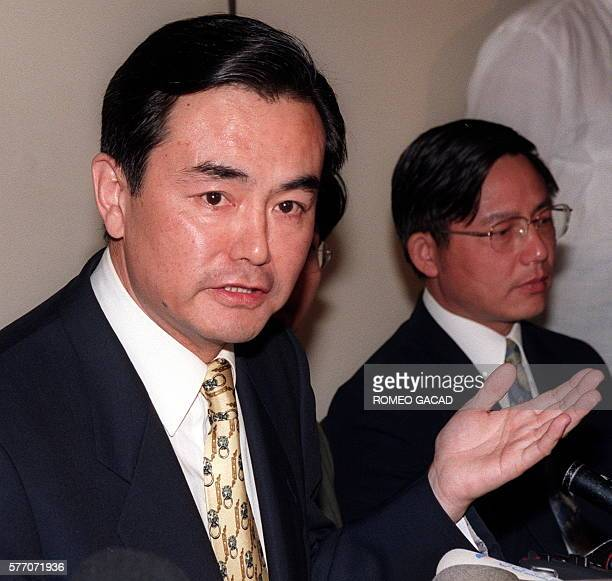 Chinese Assistant Foreign Minister Wang Yi at a press conference after the conclusion of the twoday talks between China and Philippines on...