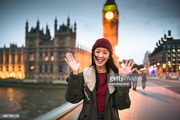 chinese backpacker traveling in london