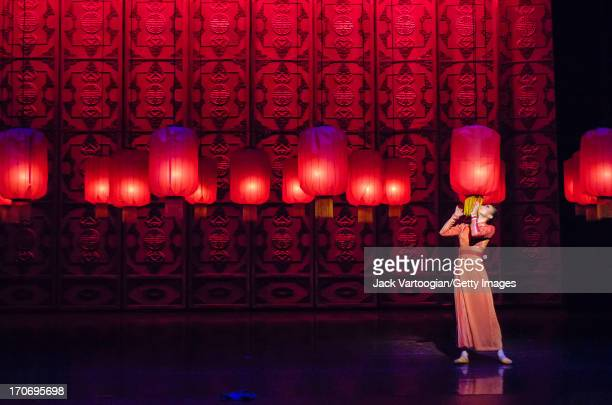 Chinese ballet dancer Jin Jia performs in the National Ballet of China's production of 'Raise the Red Lantern' at the Brooklyn Academy of Music's...
