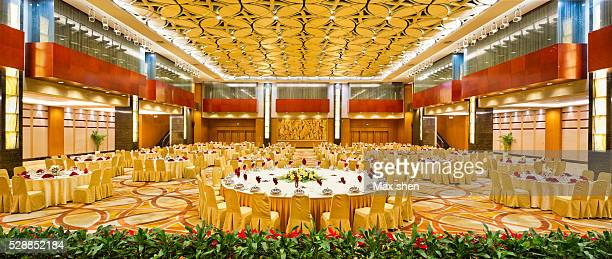 chinese banquet hall interior - banquet hall stock pictures, royalty-free photos & images