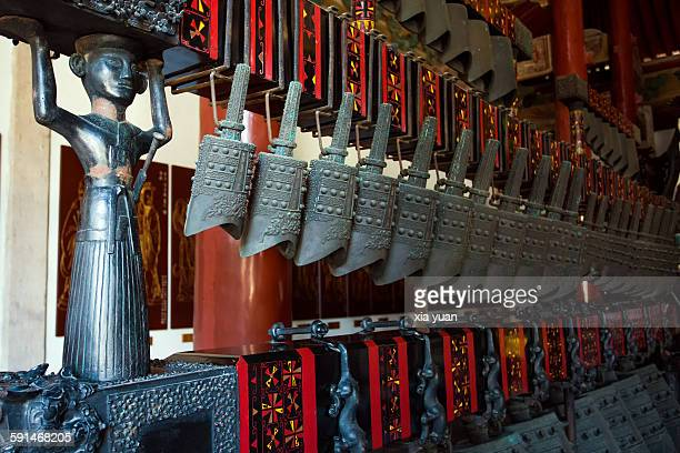 chinese bianzhong in hangzhou confucius temple - ancient stock pictures, royalty-free photos & images