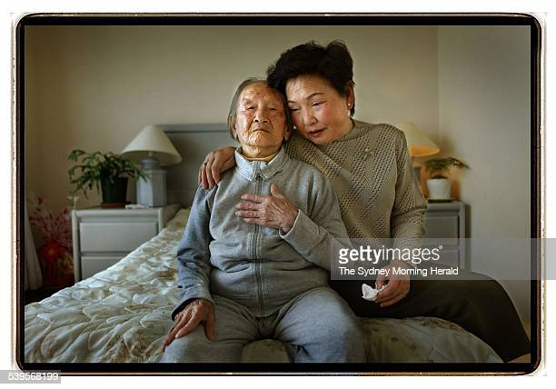 Chinese born Cuiyu Hu aged 104 has lived in Australia for the last ten years Photographed with her adopted daughter Motoko Otani The family are...