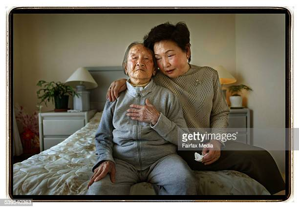 Chinese born Cuiyu Hu is 104 years old and has lived in Australia country for the last ten years Photographed here with her adopted daughter Motoko...