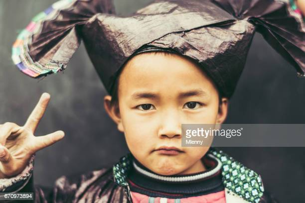 Chinese Boy V for Victory Real People Portrait