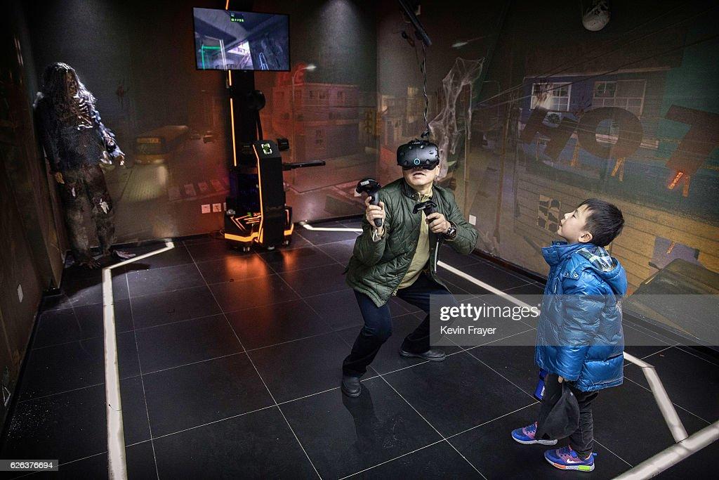 China's Virtual Reality Arcades Bring VR To The Masses : News Photo