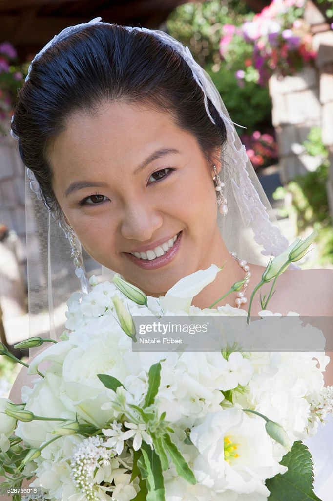 Chinese Bride In Westernstyle Wedding Dress Stock Photo | Getty Images