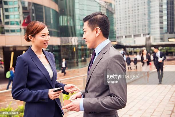 ビジネスのプロオンザムーヴ香港金融街