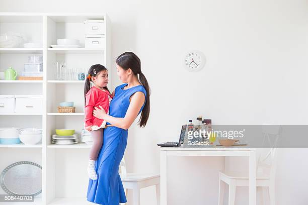 Chinese Business Woman and Daughter