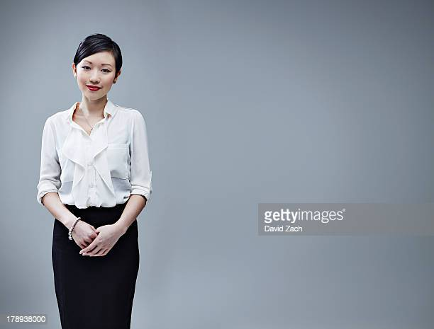 chinese business woman, portrait - businesswoman stock pictures, royalty-free photos & images