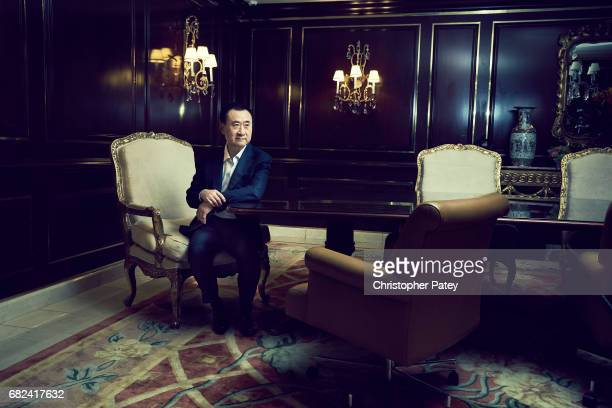 Chinese businessperson and the founder of Dalian Wanda Group Wang Jianlin is photographed for New York Times on October 15, 2016 in Beverly Hills,...