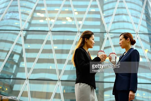 Chinese Businesswomen in Hong Kong Financial District