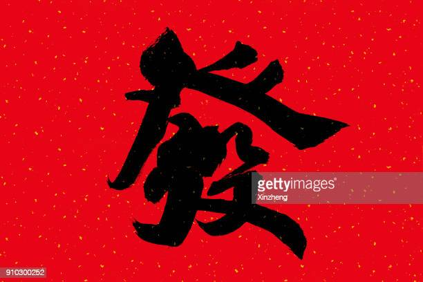 Chinese Calligraphy - Wealth, New Year, Chinese New Year, Chinese Script,