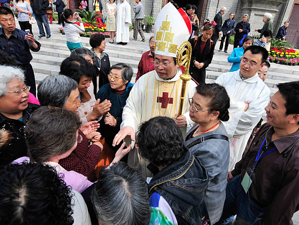Chinese catholics greet beijing catholic pictures getty images chinese catholics greet beijing catholic m4hsunfo