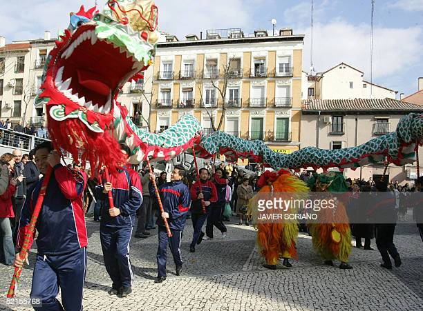 Chinese celebrate 08 February 2004 the New Year in Madrid AFP PHOTO/ JAVIER SORIANO