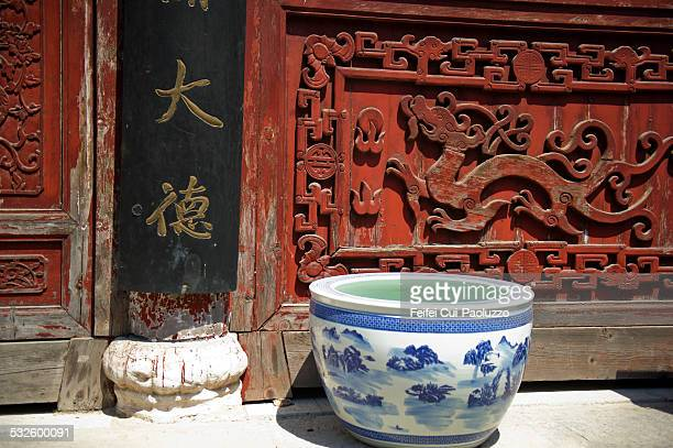 chinese ceramics - wuhan city stock pictures, royalty-free photos & images