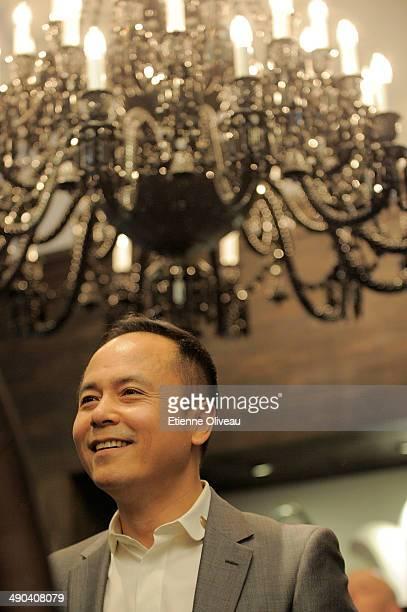 Chinese chairman of Yintai Shen Guo Jun attending the Chrome Hearts Beijing Store Opening on May 14, 2014 in Beijing, China.