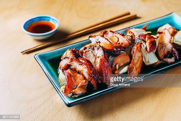 Chinese Char Siu or roast barbecue pork