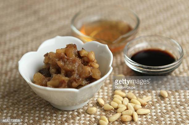 Chinese charoset with pine nuts soy sauce and honey