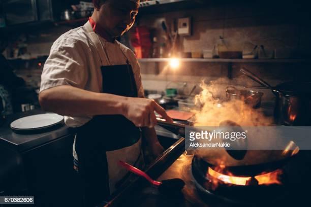 Chinesische Koch Kochen