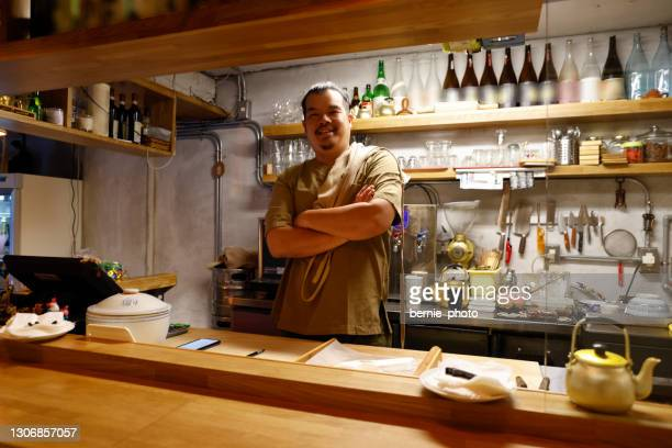 chinese chef owner portrait - taiwan stock pictures, royalty-free photos & images