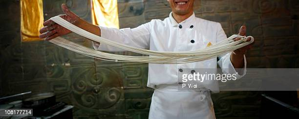 Chinese Chef with Handmade Noodles