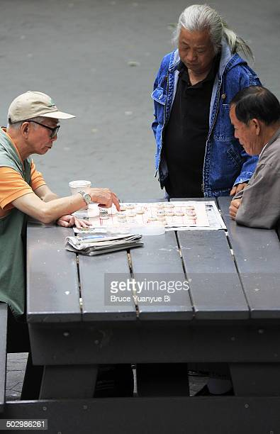 Chinese chess game in Columbus Park