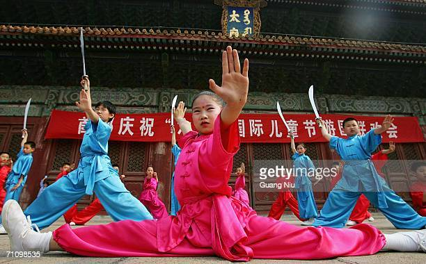 Chinese children prepare a performance to mark the International Children's Day on June 1 2006 in Beijing China Students take a day off and various...