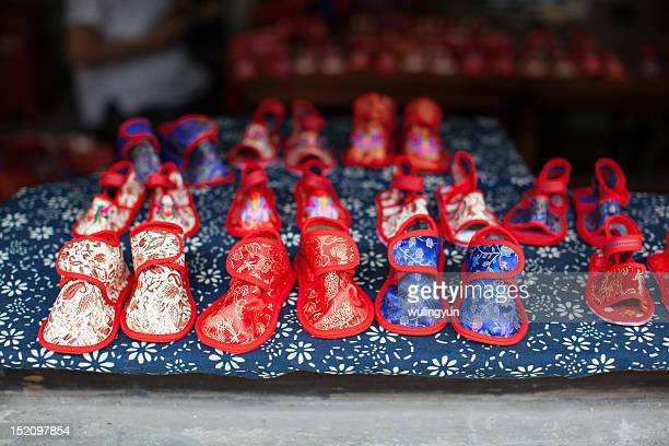 Chinese childrens traditional cloth shoes
