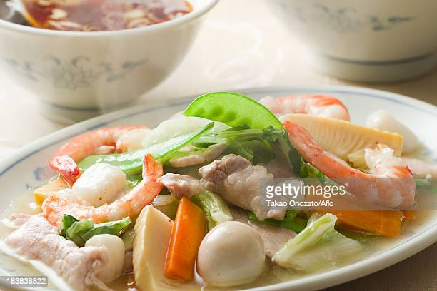 chinese chop suey - chop suey stock photos and pictures