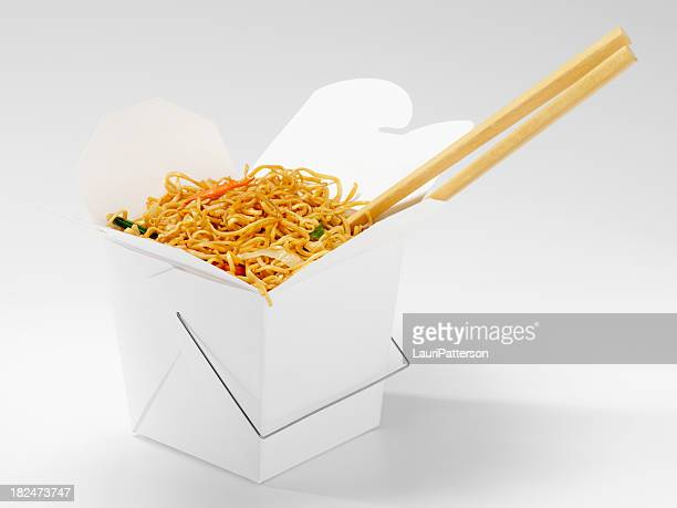 Chinese Chow Mein with Chopsticks