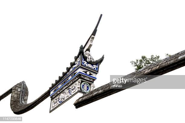 chinese classical architecture roof line - fuzhou stock pictures, royalty-free photos & images