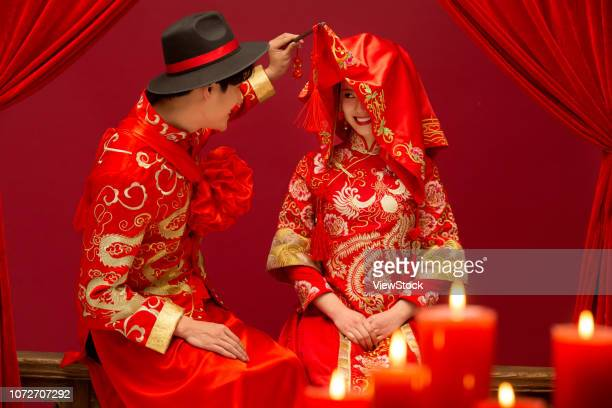 chinese classical wedding - uvula stock photos and pictures
