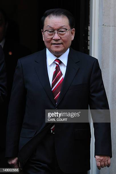 Chinese Communist Party official Li Changchun a senior member of China's Politburo Standing Committee leaves number 10 Downing Street in central...