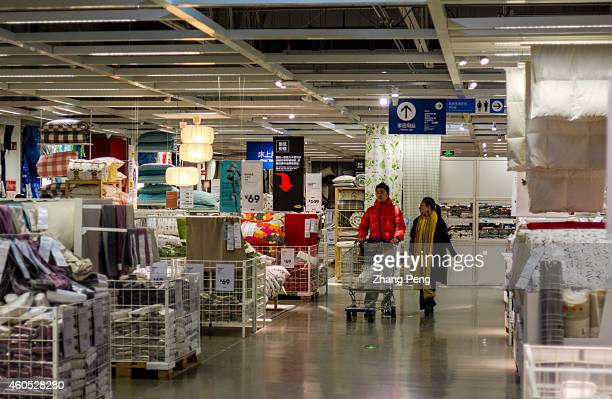 Chinese consumers in Beijing Inter Ikea shopping center Beijing Inter Ikea shopping center opens on mid December located near the South Fifth Ring...