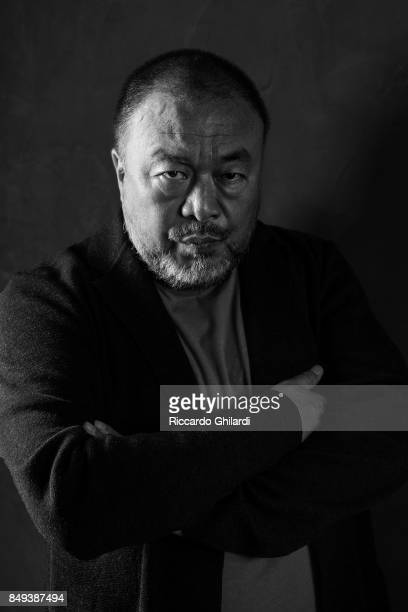 Chinese contemporary artist and activist Ai Weiwei is photographed for Self Assignment on August 30 2017 in Venice Italy